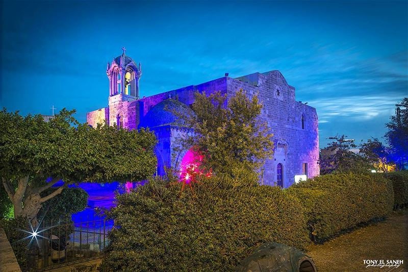 2016  lebanon  jbeil  byblos  sunset  sunrise_sunsets_aroundworld  moon ... (St Jean Marc Church, Byblos)
